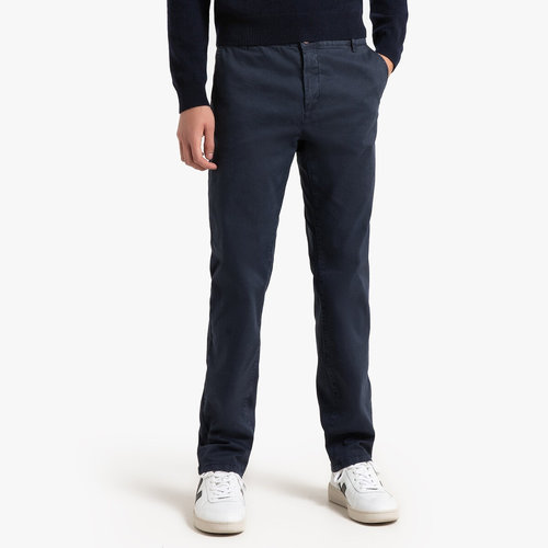 Παντελόνι chino σε ίσια γραμμή - Παντελόνια - ΣΚΟΥΡΟ ΜΠΛΕ