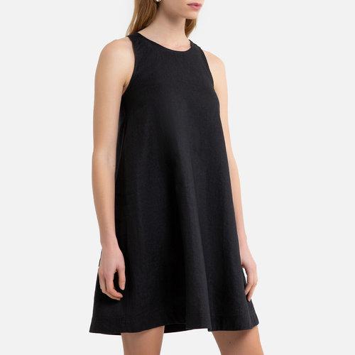 Αμάνικο εβαζέ φόρεμα - Φορέματα - ΜΑΥΡΟ