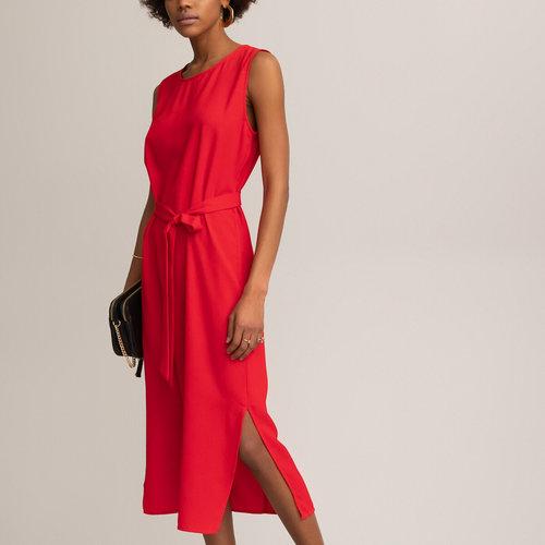 Αμάνικο φόρεμα σε ίσια γραμμή - Φορέματα - ΚΟΚΚΙΝΟ