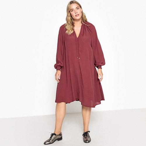 Μακρυμάνικο εβαζέ φόρεμα - Φορέματα - ΔΑΜΑΣΚΗΝΙ