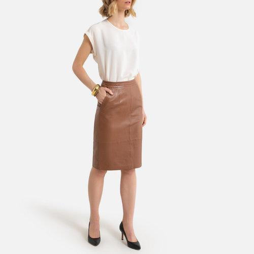 Δερμάτινη midi pencil φούστα - Φούστες - ΚΑΜΗΛΟ