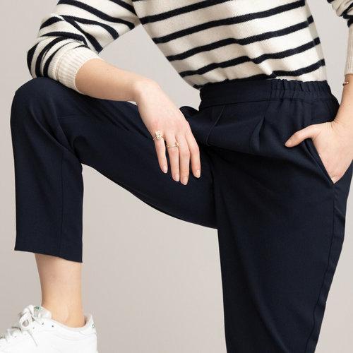 Παντελόνι με λάστιχο - Παντελόνια - ΣΚΟΥΡΟ ΜΠΛΕ