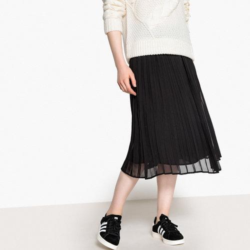 Πλισέ μίντι φούστα - Φούστες - ΜΑΥΡΟ
