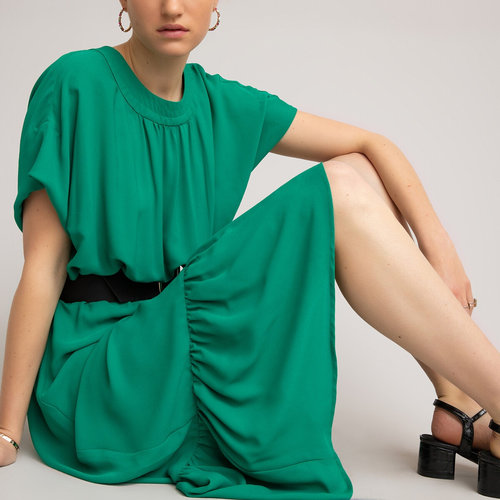 Μακρύ κοντομάνικο φόρεμα - Φορέματα - ΠΡΑΣΙΝΟ