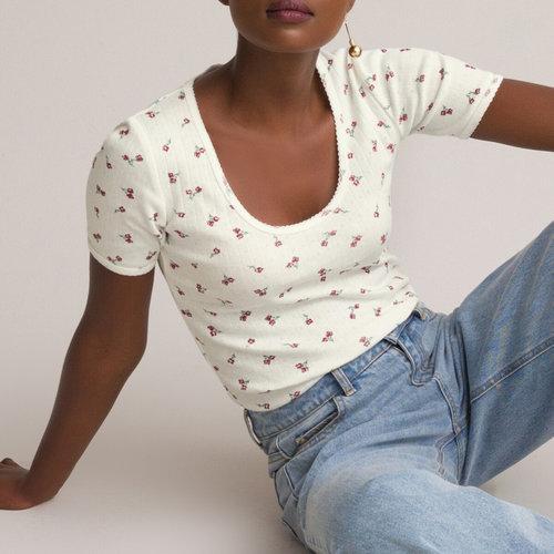 Κοντομάνικη φλοράλ μπλούζα - Μπλούζες & Πουκάμισα - ΙΒΟΥΑΡ ΤΥΠΩΜΑ