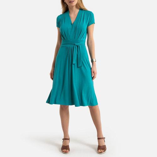 Draping A-Line Dress - Φορέματα - ΤΥΡΚΟΥΑΖ