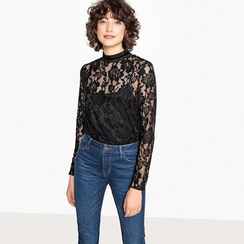 Μακρυμάνικη μπλούζα - Μπλούζες & Πουκάμισα - ΜΑΥΡΟ