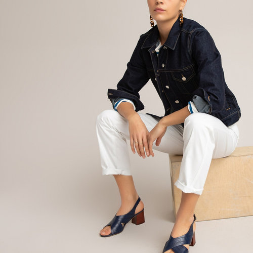 Παντελόνι με λοξές τσέπες - ΓΥΝΑΙΚΑ - ΛΕΥΚΟ