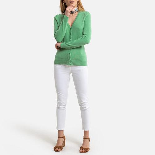 Ζακέτα με κασμιρένια αίσθηση - Πλεκτά & Ζακέτες - ALMOND GREEN