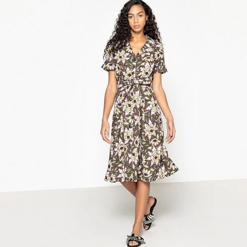 Φλοράλ εβαζέ φόρεμα - Φορέματα - ΧΑΚΙ ΤΥΠΩΜΑ