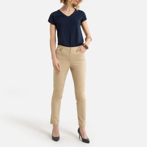 Ίσιο βαμβακερό παντελόνι - ΓΥΝΑΙΚΑ - ΜΠΕΖ