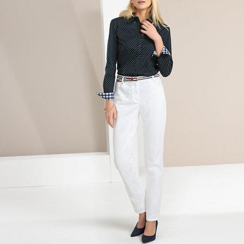 Ίσιο βαμβακερό παντελόνι - ΓΥΝΑΙΚΑ - ΛΕΥΚΟ