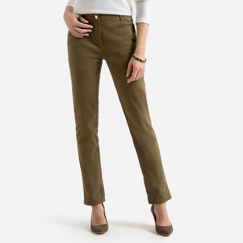 Ίσιο βαμβακερό παντελόνι - ΓΥΝΑΙΚΑ - ΧΑΚΙ