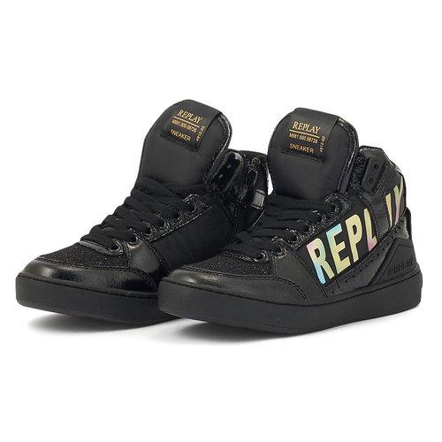 Replay - Μποτάκια - BLACK/GOLD