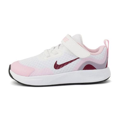 Nike WearAllDay - Αθλητικά - WHITE/DARK BEETROOT