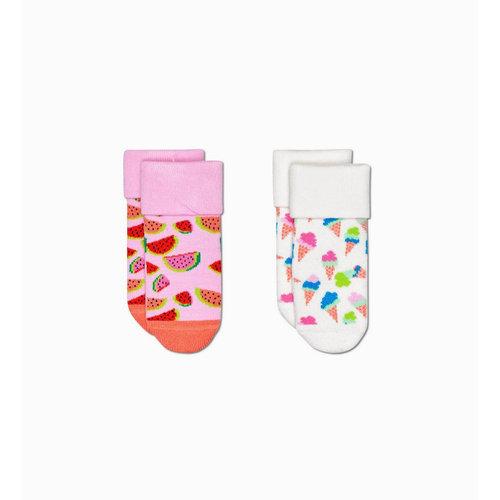 Happy Socks 2-Pack - Κάλτσες - ΔΙΑΦΟΡΑ ΧΡΩΜΑΤΑ