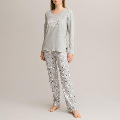 Εμπριμέ βαμβακερή πιτζάμα - Σύνολα Ύπνου - ΦΛΟΡΑΛ ΤΥΠΩΜΑ