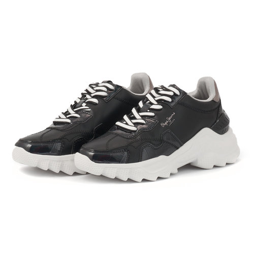 Pepe Jeans Eccles Croco - Sneakers - NBK/FUX/WH