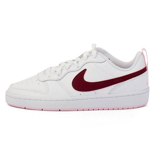 Nike Court Borough Low 2 - Αθλητικά - WHITE/DARK BEETROOT