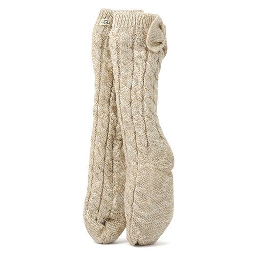 Ugg W LAILA BOW FLEECE - Κάλτσες - CREAM/GOLD