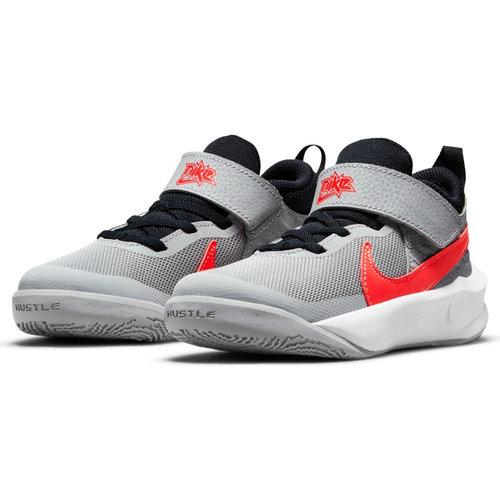 Nike Team Hustle D 10 - Αθλητικά - LT SMOKE GREY/BRIGHT CRIMSON