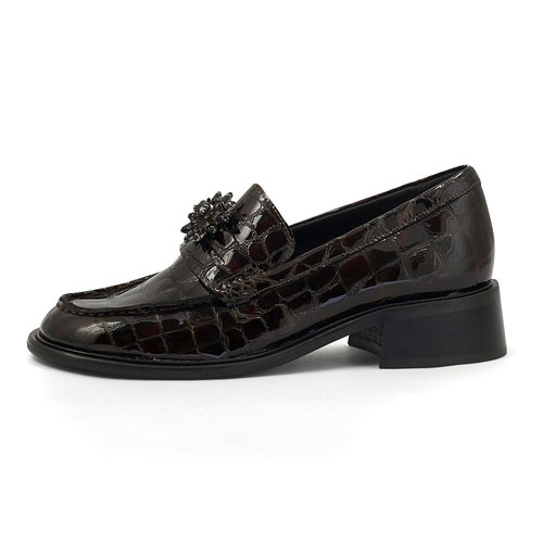 Scotch & Soda Devie - Brogues & Loafers - BROWN CROCO OPT