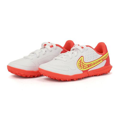 Nike Jr. Tiempo Legend 9 Club - Αθλητικά - WHITE/VOLT-BRIGHT CRIMSON