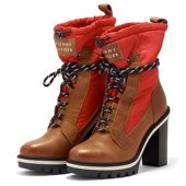 Tommy Hilfiger Fun Outdoor Nylon Bootie - Casual - ΚΑΦΕ/ΚΟΚΚΙΝΟ