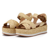 Pepe Jeans Wick Natural - Flatforms - ΜΠΕΖ