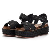 Pepe Jeans Wick Natural - Flatforms - ΜΑΥΡΟ