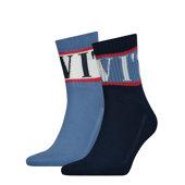 Σετ 2 ζευγάρια βαμβακερές αθλητικές κάλτσες - Αθλητικές - ΜΠΛΕ / ΝΑΥΤΙΚΟ ΜΠΛΕ